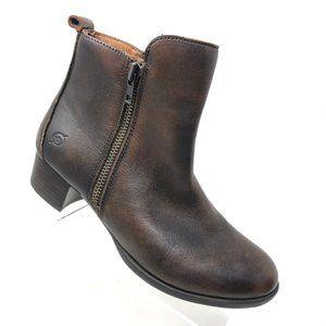 Born Landa Ankle Boot Tobacco Brown Bootie 8 M